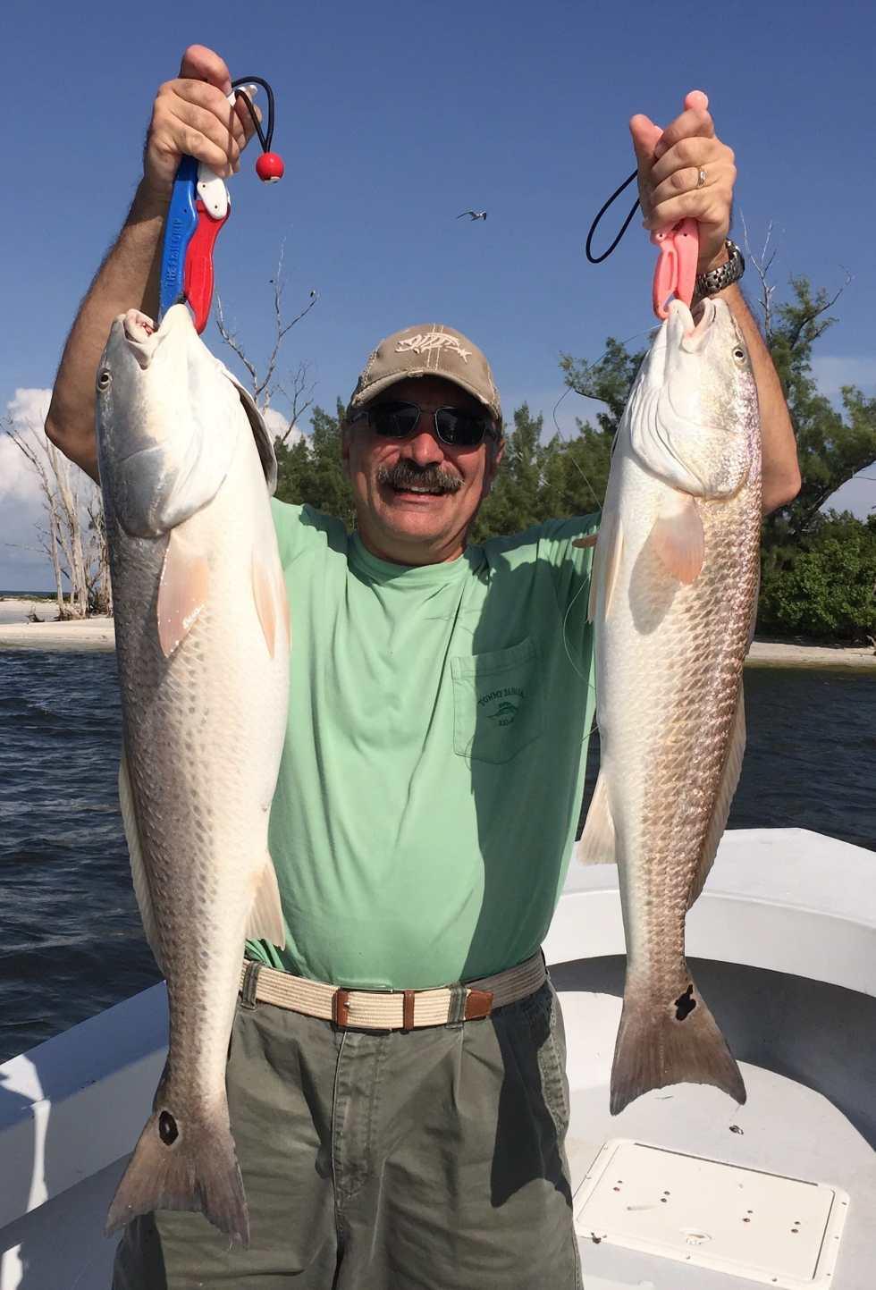 Two Redfish, Sanibel Fishing & Captiva Fishing, Tuesday, 9-1-15 ~ #Sanibel #Captiva.