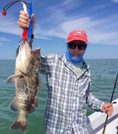 Grouper, Sanibel Fishing & Captiva Fishing, Tuesday, 3-1-16 ~ #Sanibel #Captiva.