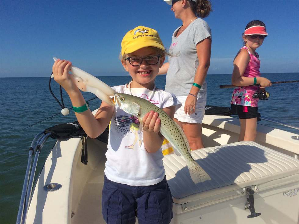 Sea Trout, Sanibel Fishing & Captiva Fishing, Wednesday, August 24, 2016.