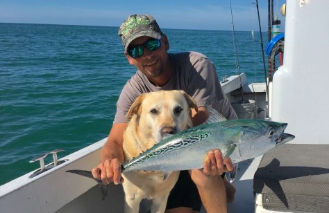 Joey, Hank, Bonita, False Albacore Tuna, Sanibel Fishing & Captiva Fishing, Sanibel Island, Friday December 30, 2016.