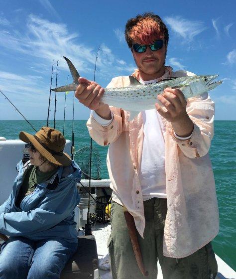 Charlie, Karen, Spanish Mackerel, Catch & Release, Sanibel Fishing & Captiva Fishing, Sanibel Island, Tuesday, March 28, 2017.