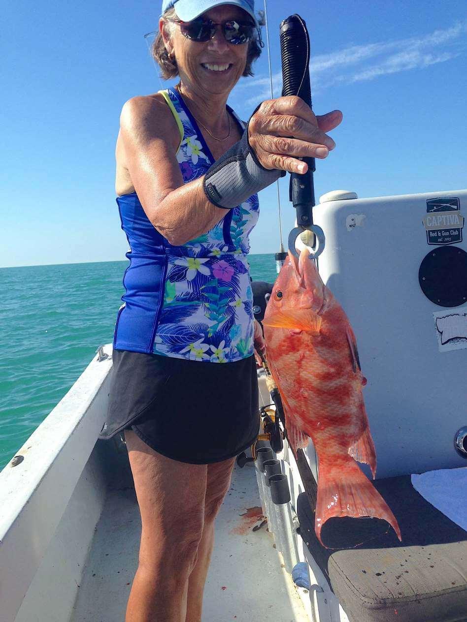 Hogfish or Hog Snapper, Catch & Release, Sanibel Fishing & Captiva Fishing, Sanibel Island, Friday, February 3, 2017.