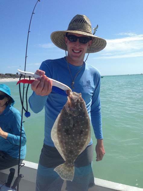 Flounder, Sanibel Fishing & Captiva Fishing, Sanibel Island, Sunday, March 12, 2017.