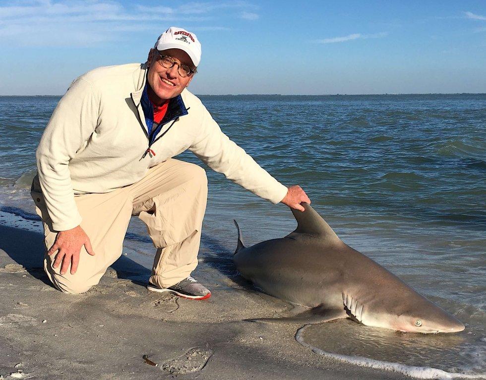 Sandbar Shark Fishing, Redfish Pass, Catch & Release, Sanibel Fishing & Captiva Fishing, Sanibel Island, Wednesday, December 13, 2017.