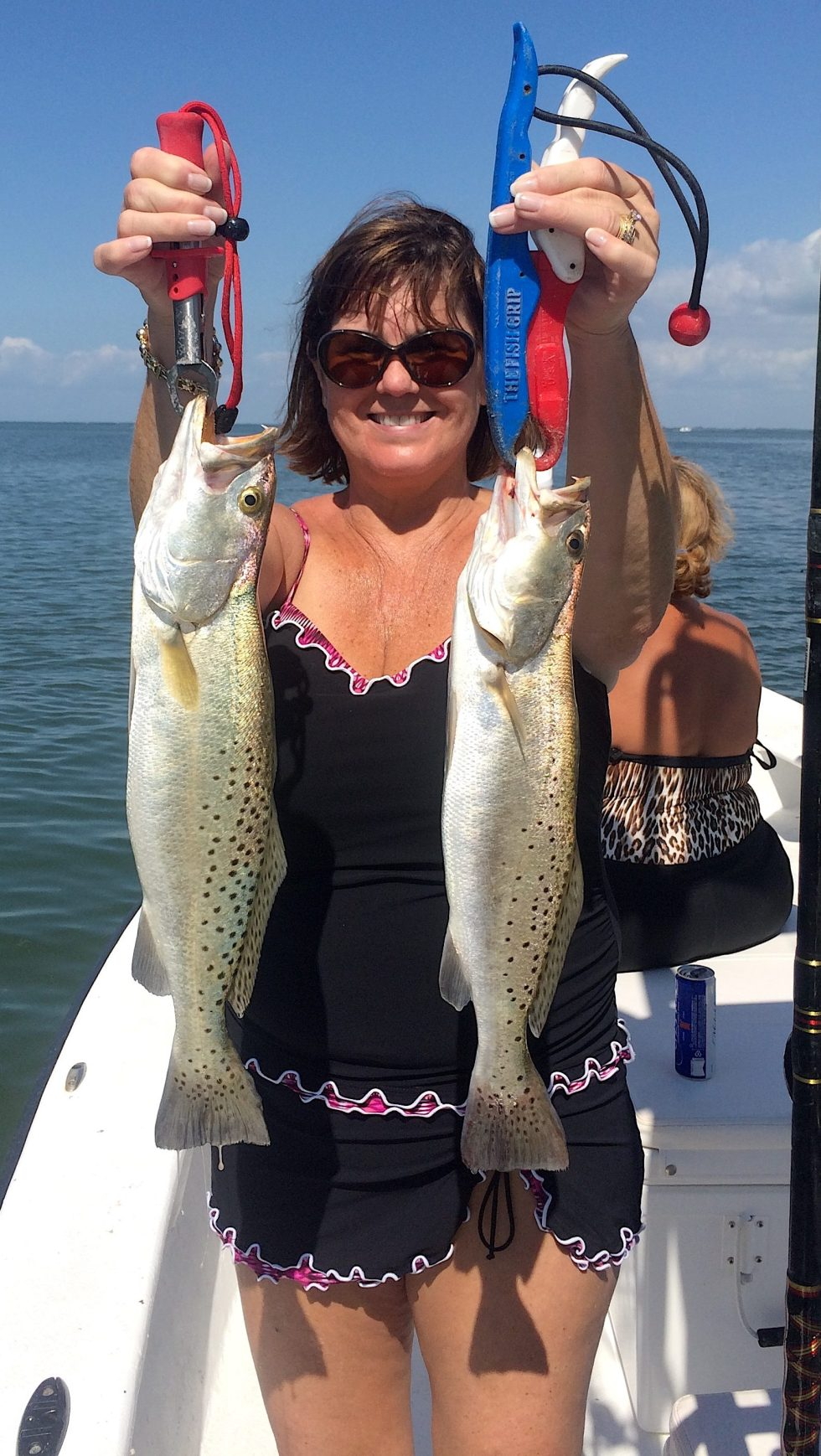 Two SeaTrout, Grass Beds & Oyster Bars, Catch & Release, Sanibel Island Fishing Charters & Captiva Island Fishing Charters, Sanibel Island, Wednesday, February 28, 2018.