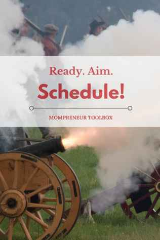 Ready. Aim. Schedule!! When it comes to time vs. money. a multi-platform scheduling tool is what you need! Come on over and check out another Mompreneur Toolbox favorite!