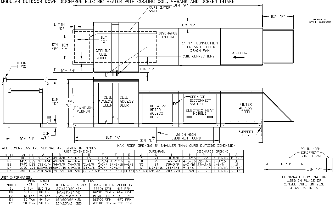 Electric Heater Submittal Drawing