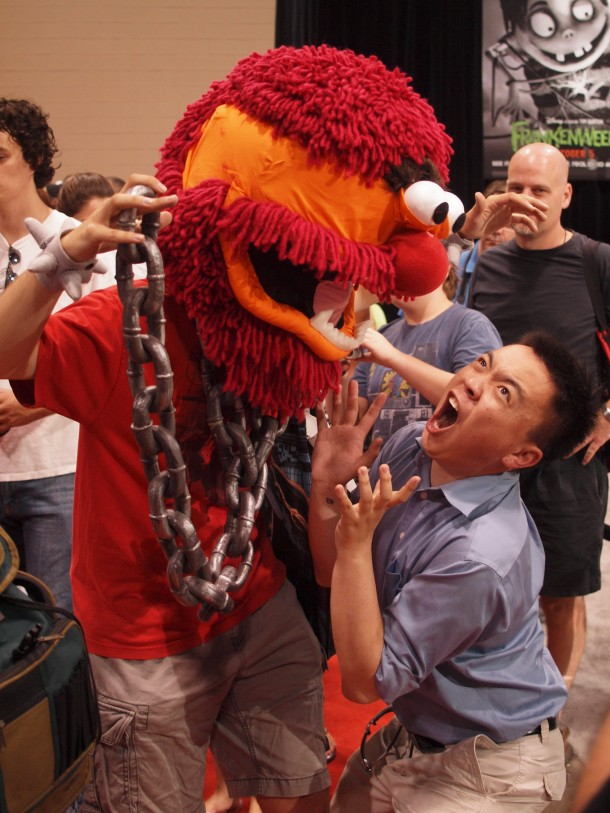 Fan Expo: Muppet Animal Cosplayer and a Fan
