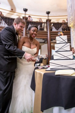 Bride Groom Cut Cake