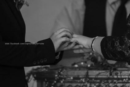 Wedding Bride LGBT Gay Ring Exchange