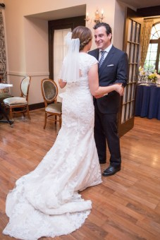 Bride Groom first look, Chicago Wedding