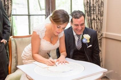 Signed ketubah bride groom, Chicago Wedding