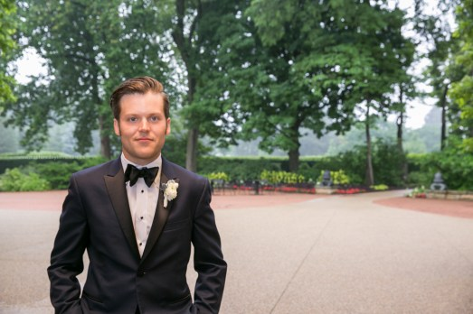 Morton Arboretum Wedding, Groom, portrait