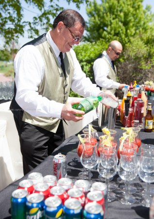 Wedding bartender