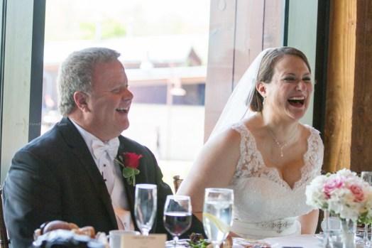 Bride Groom toast reaction
