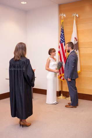 Wedding ceremony, courthouse
