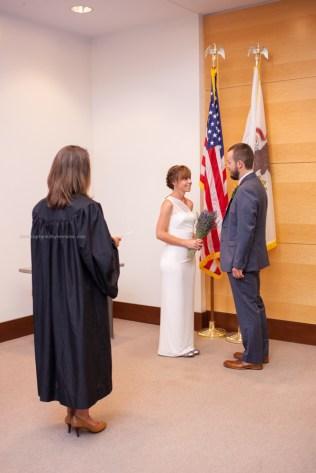 Wedding ceremony, courthouse