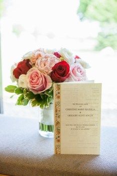 Wedding flower and invite