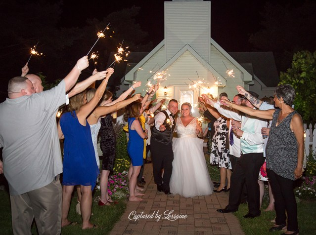 Chapel in the Pines Wedding Sparkler Exit-902