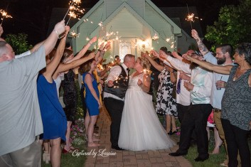 Chapel in the Pines Wedding Sparkler Exit-904