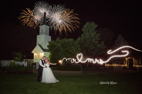 Chapel in the Pines Wedding Sparkler Exit-916-6