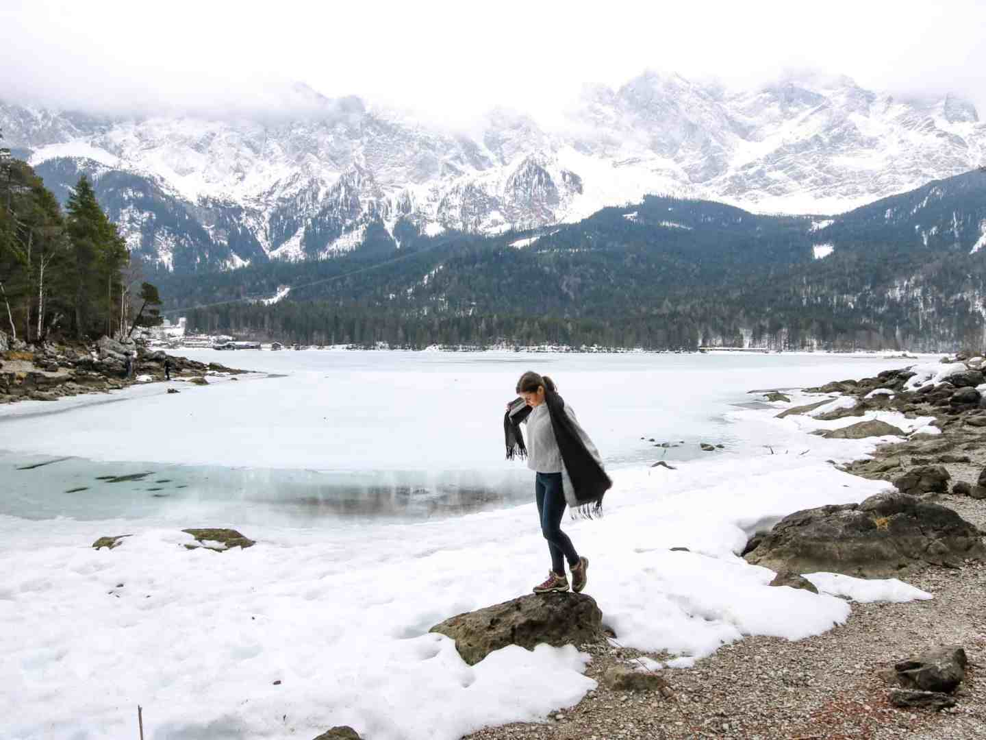 Lake Eibsee and Zugspitse : a Winter Wonderland