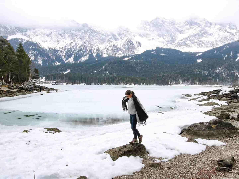 Lake Eibsee and Zugspitse : a Winter Wonderland