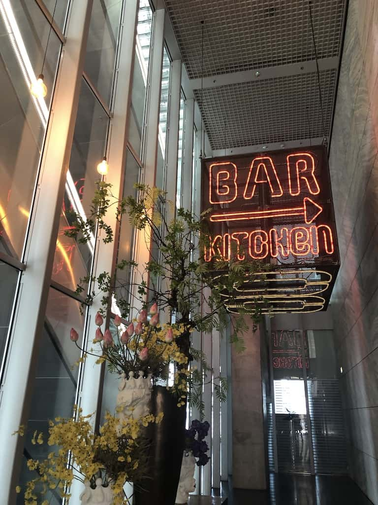 Neon sign for hotel bar Nhow Hotel