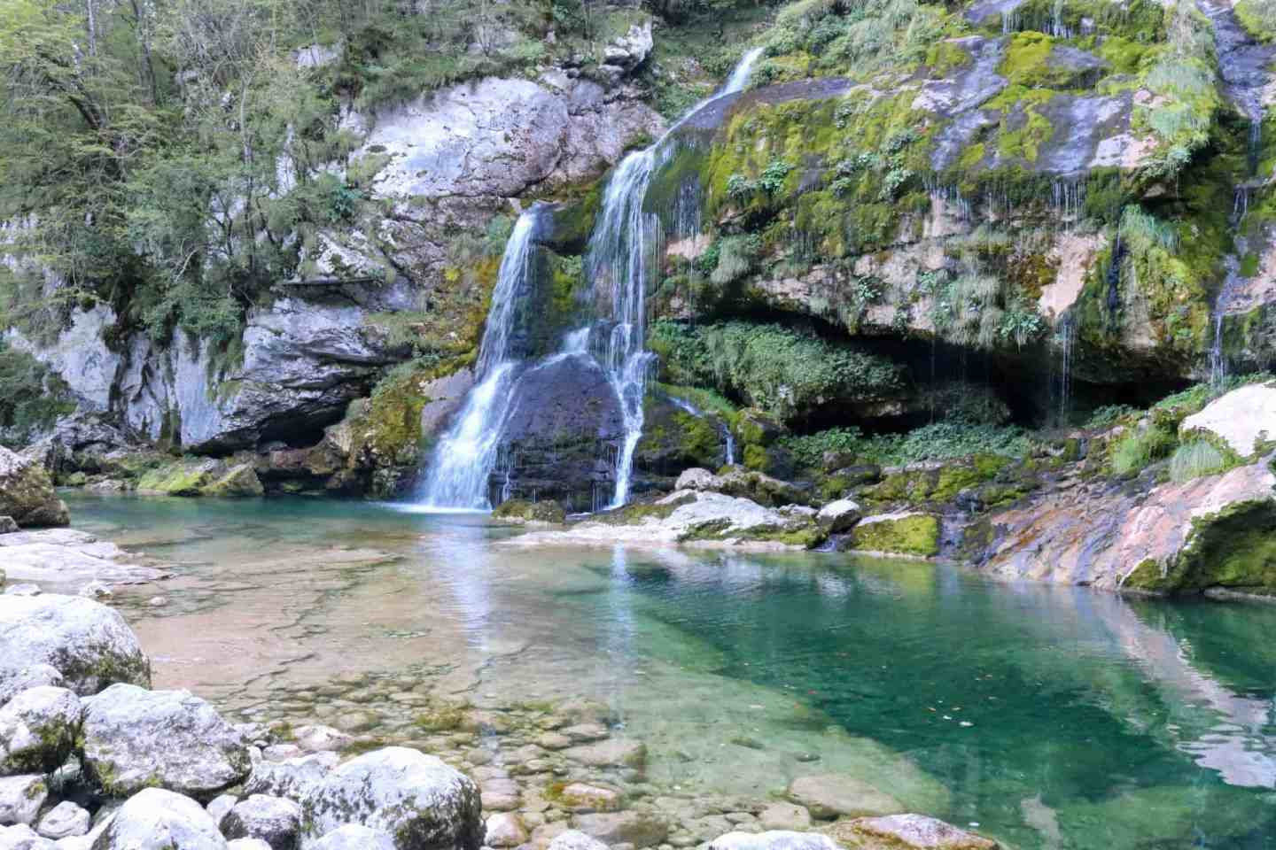 Virje waterfall most beautiful waterfall in slovenia