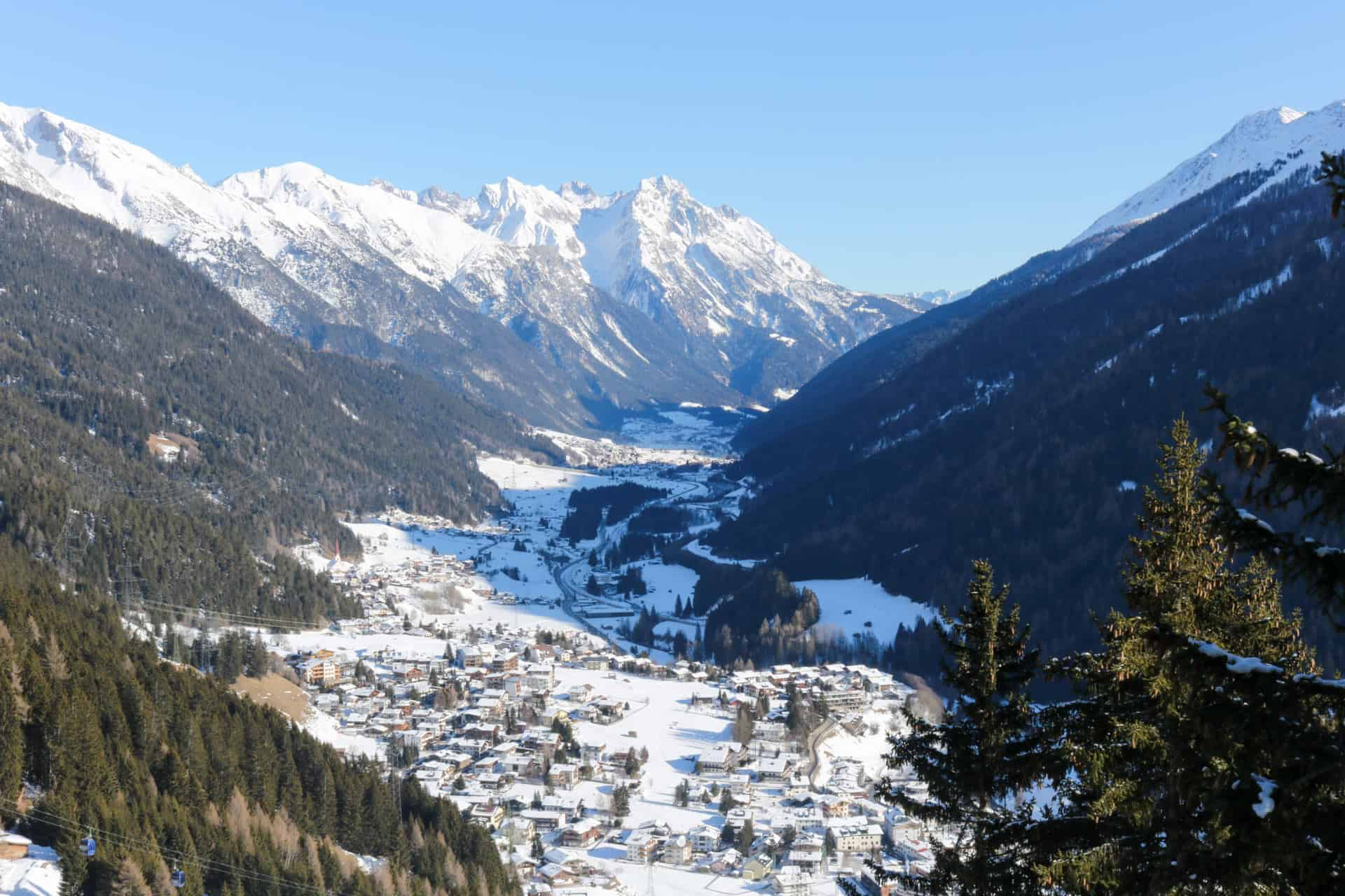 St Anton view from above