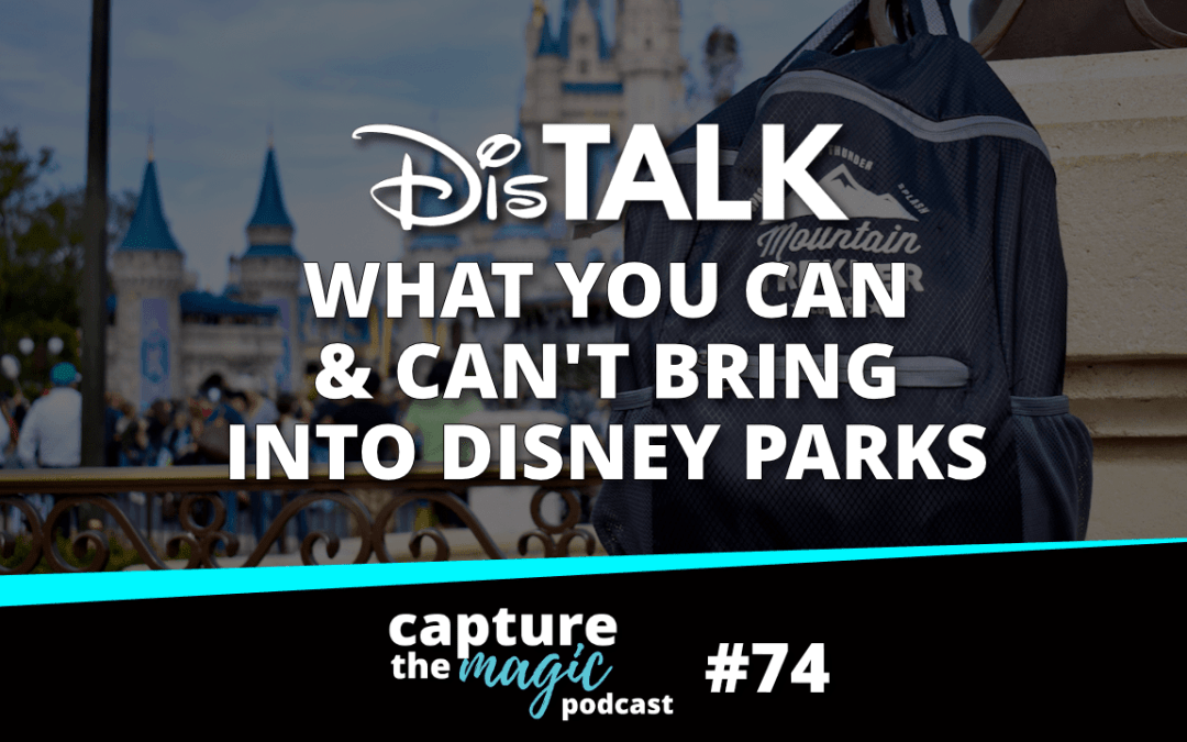 Ep 74: Disney Park Bag: What You Can't Bring & What You Should Bring