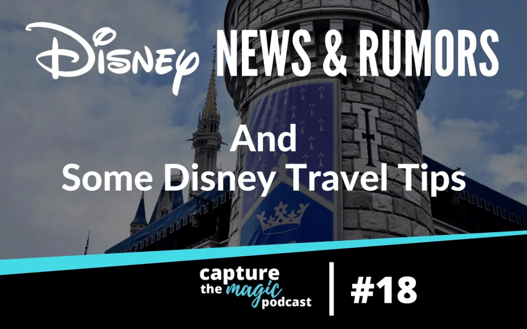 Ep 18: Disney World News, Rumors & Some Disney Travel TIps