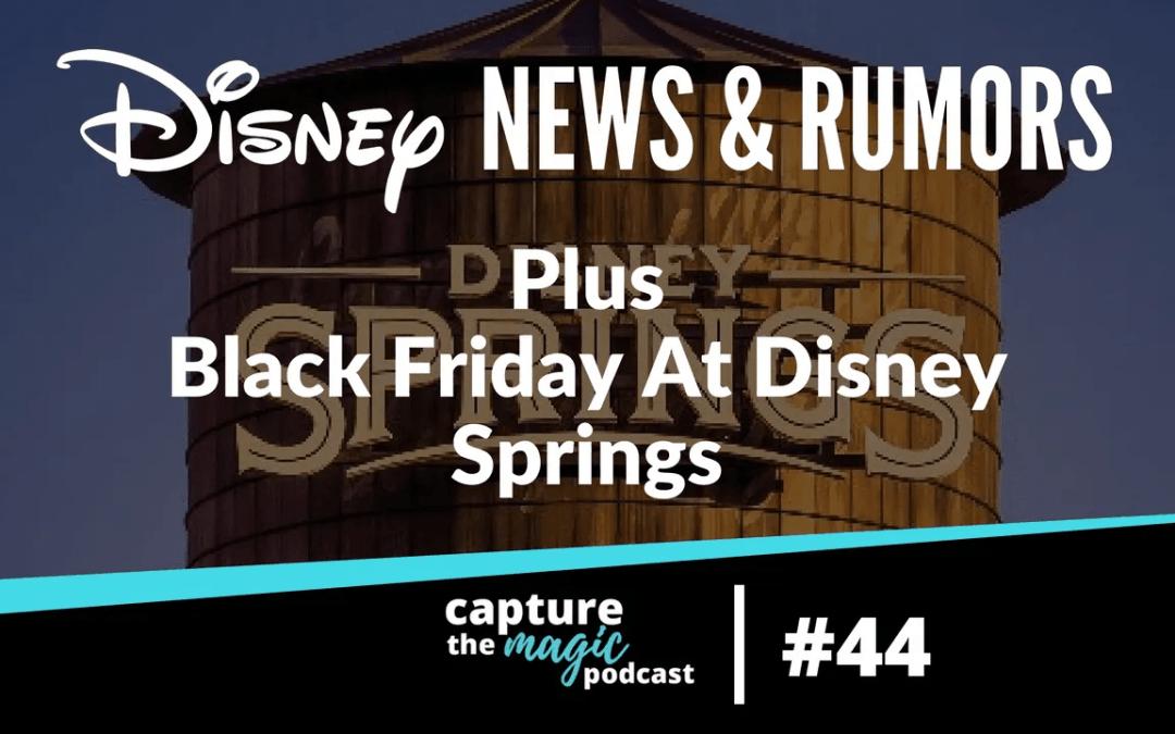 Ep 44: Disney World News & Black Friday at Disney Springs