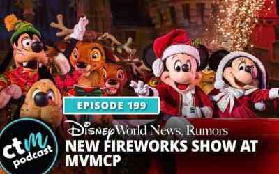 Ep 199: News + New Fireworks Show at Mickey's Very Merry Christmas Party