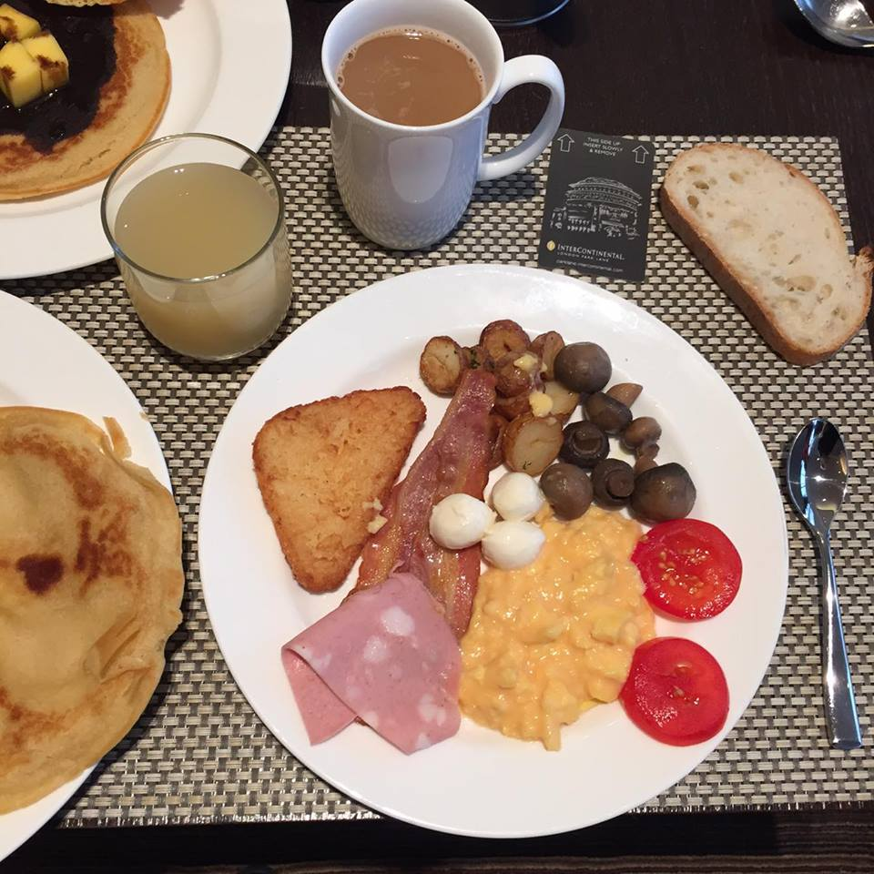 english breakfast intercontinental park lane london