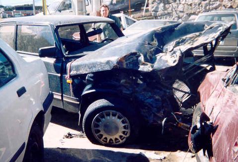 Saab Wreck