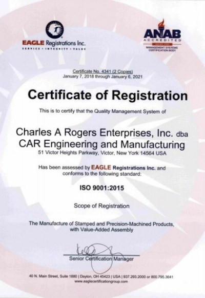 ISO 9001 Stamping Certification