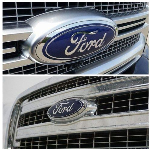 For Ford Oval 9inch Front Grille Rear Tailgate Replacement Logo Emblem Badge Suitable for 2004-2014 F150 Dark Blue