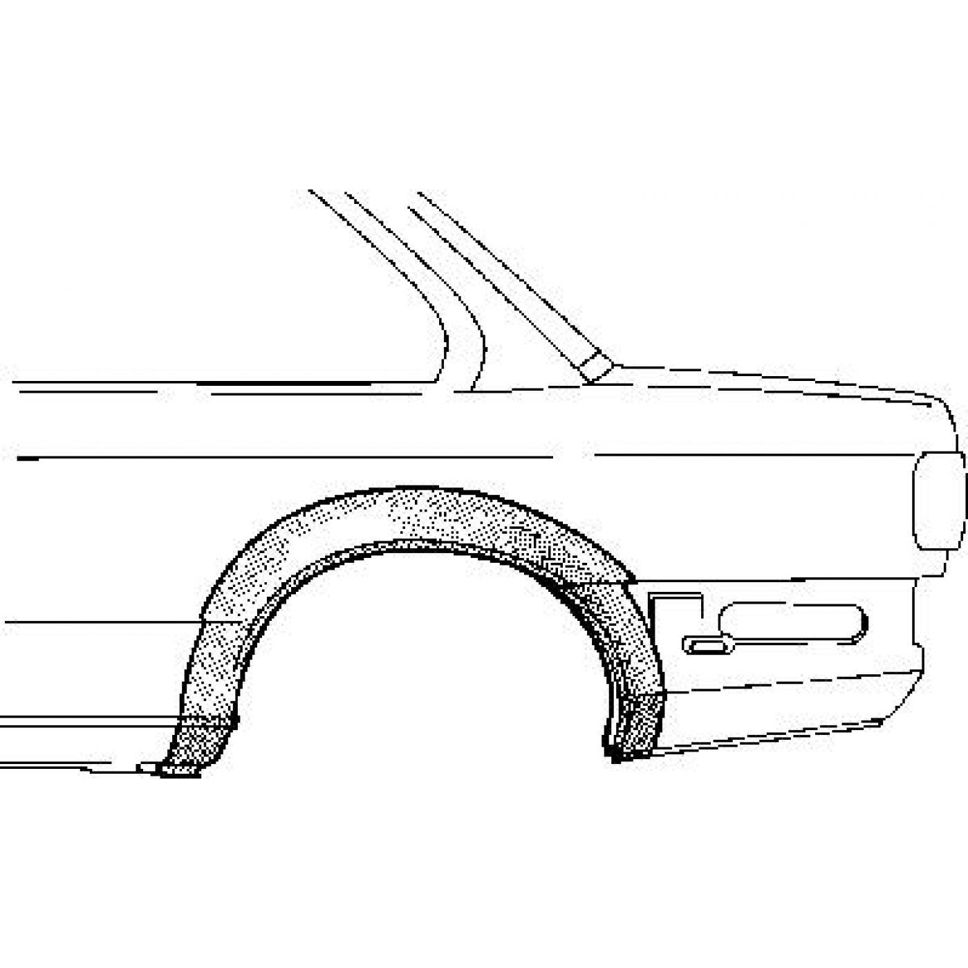 Radlauf Hinten Rechts Bmw E30 Coupe Ab Bj 09
