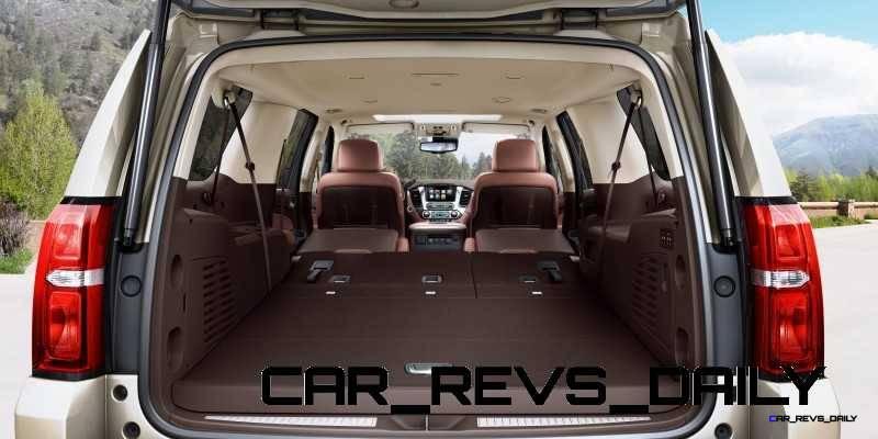 2015 Chevrolet Suburban Interior featuring Power Fold Flat Seats