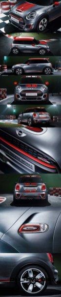 2015 MINI Cooper JCW Concept Brushed-Alloy Paints Hot Bod 4-vert