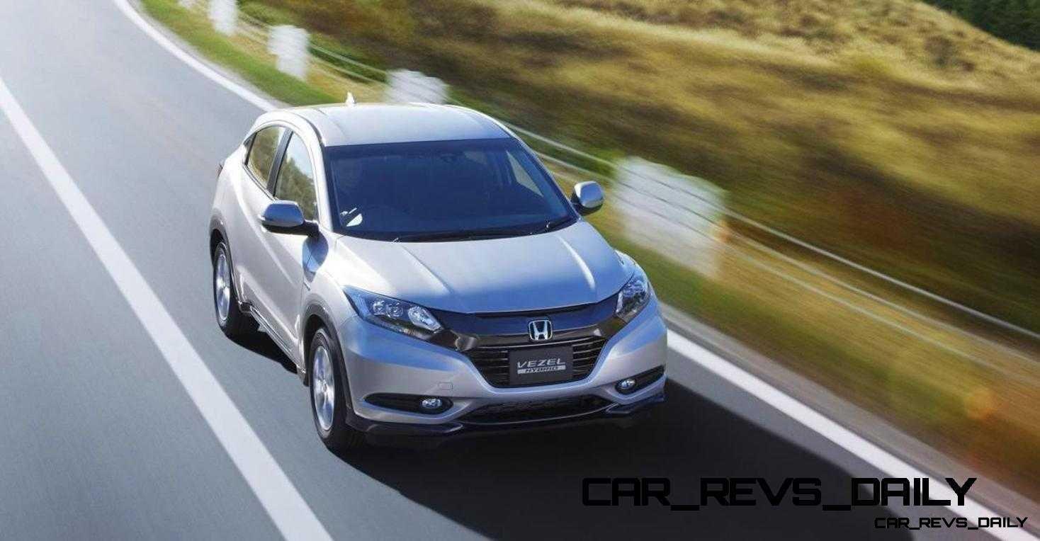 Cool! 2015 Honda Vezel Hybrid Previews Spring 2014 Civic CUV37