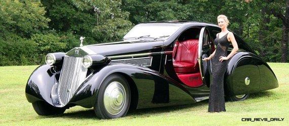 Peterson Auto Museum - 1925 Rolls-Royce Phantom I - 1934 Jonkheere Round Door Aero Coupe 22