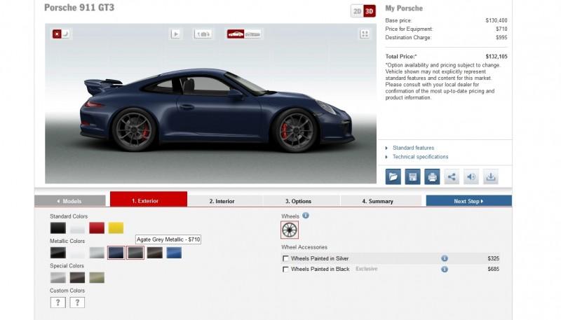2014 Porsche 911 GT3 All Colors  12