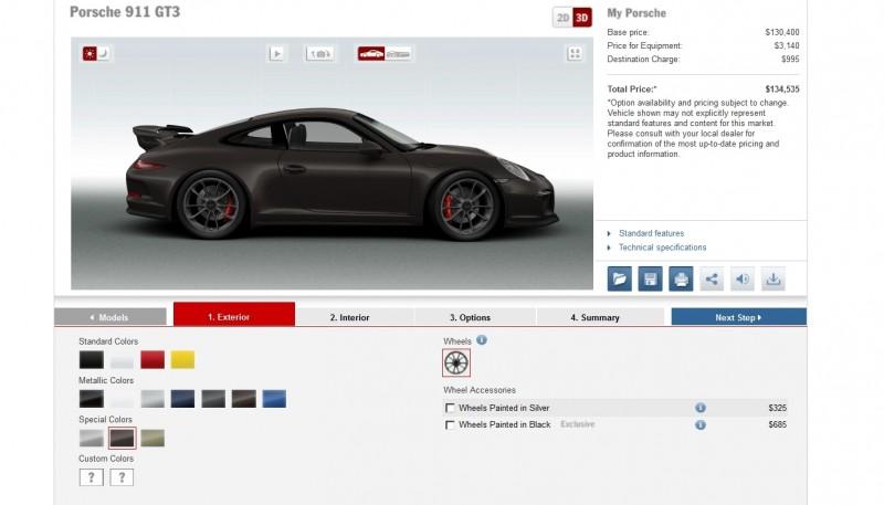2014 Porsche 911 GT3 All Colors  17