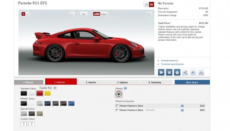 2014 Porsche 911 GT3 All Colors  6
