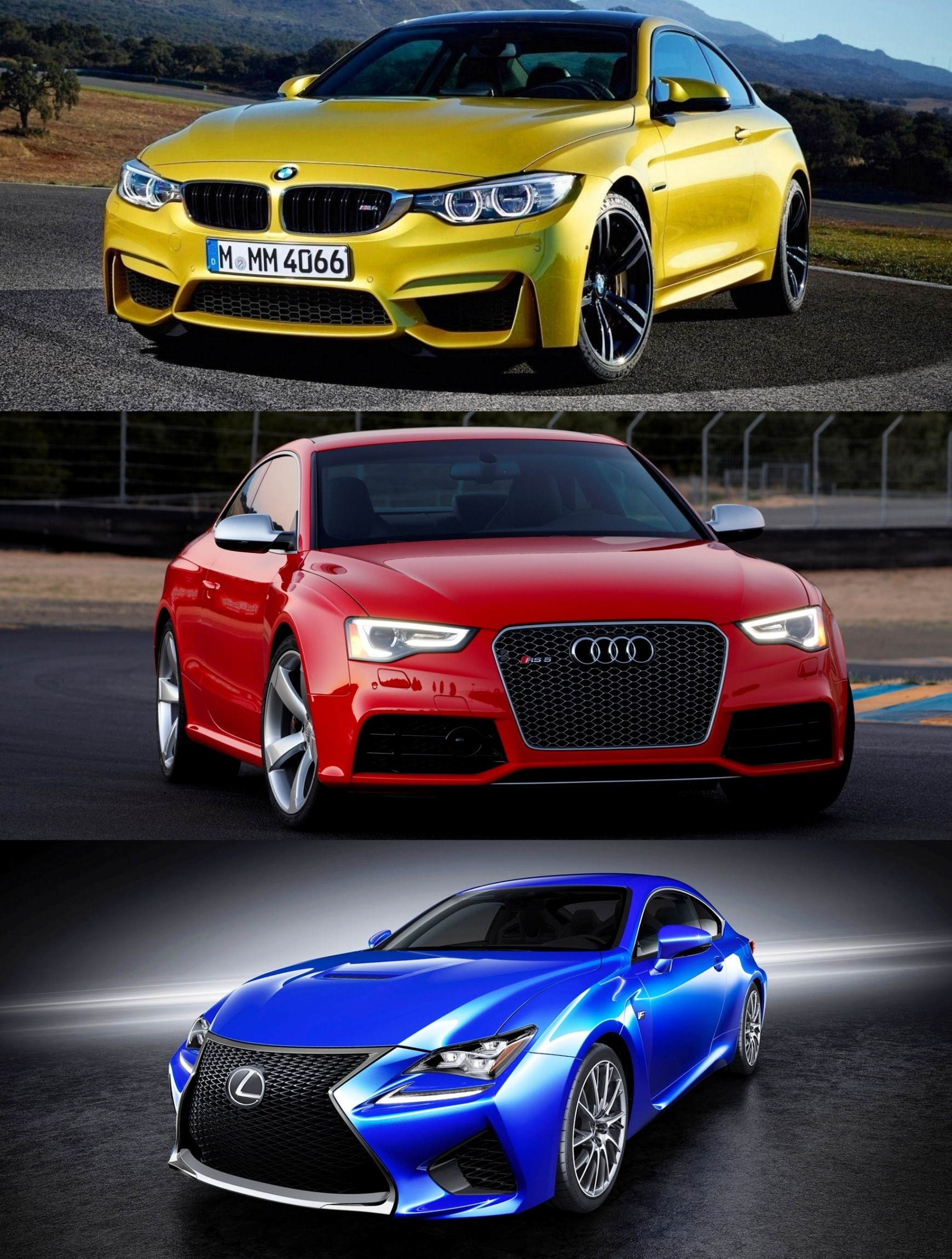 2015 Supercoupe Design Shootout Lexus RC F vs BMW M4 vs Audi RS5 2