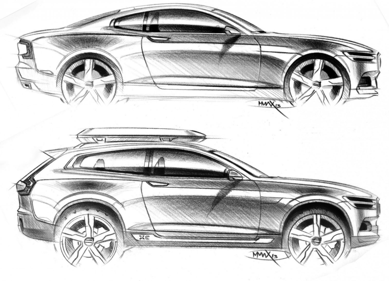 Volvo Xc90 Closely Previewed By New Xc Coupe Concept