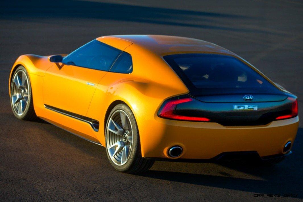 CarRevsDaily.com -- KIA GT4 STINGER Concept -- Track Thrills -- RWD Layout -- 315HP Turbo -- Lightweight Aero Shell 9