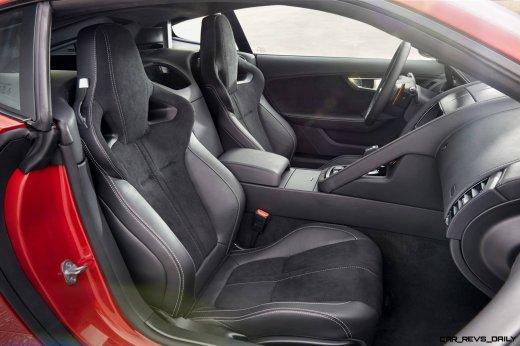 Jaguar Makes a WINNER! 2015 F-type Coupe INTERIOR6